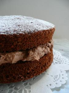 Chocolate Victoria Sponge Cake With Chocolate Buttercream