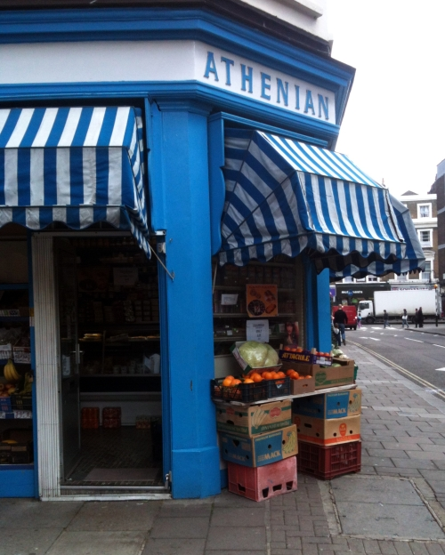The Athenian shop in Moscow Road, London